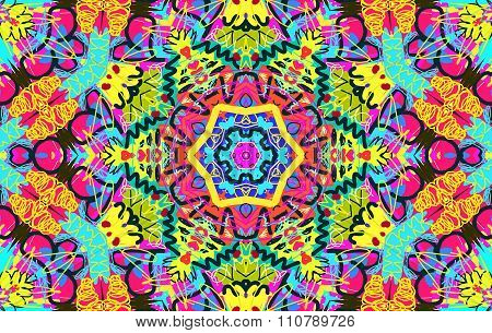 Bright Multi-colored Untidy Pattern