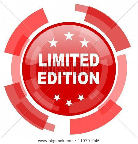 limited edition red glossy web icon