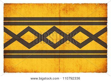 Grunge Flag Of West Midlands (great Britain)