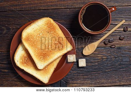 Toasted Bread And Coffee