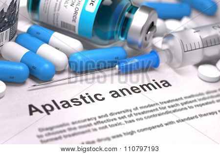 Aplastic Anemia Diagnosis. Medical Concept.