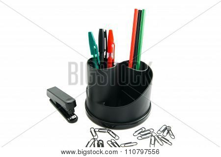 Stapler, Paper Clips And Other Stationery