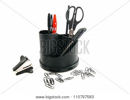 Pens, Staple Remover And Pencils