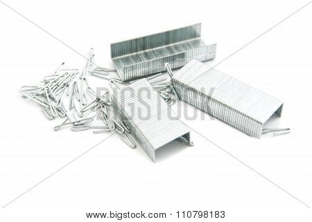 Heap Of Metal Staples