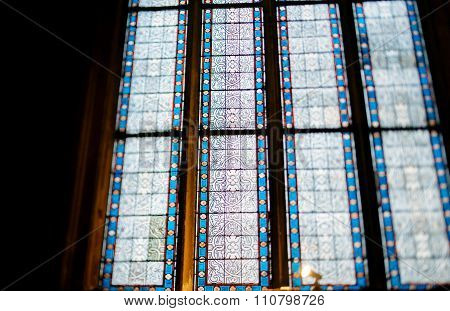 Stained Glass With Beautiful Floral Ornament
