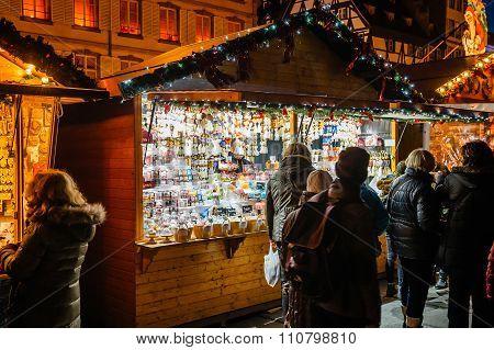 Strasbourg Cristmas Christkindlmarkt Strasbourg Alsace France
