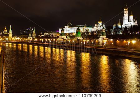 View Of Kremlin And Moskva River In Moscow