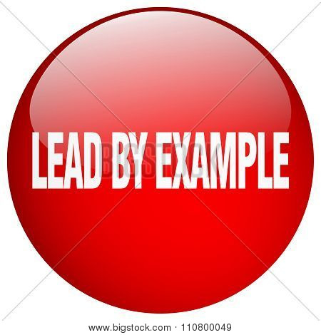 Lead By Example Red Round Gel Isolated Push Button