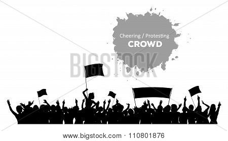 Cheering or Protesting Crowd