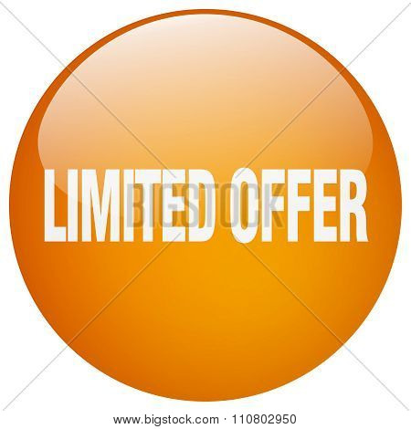 Limited Offer Orange Round Gel Isolated Push Button