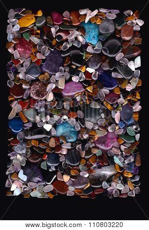 Semi Precious Stones Poster Background