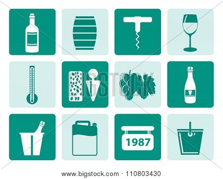 One tone Wine and drink Icons