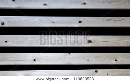 Wooden Slats On Black Background Texture