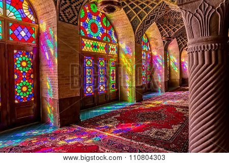 Nasir Al-Mulk Mosque praying room