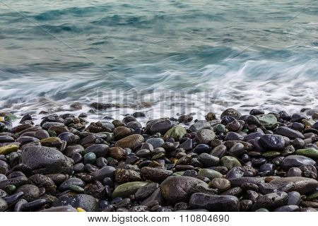 Stone Ocean Coast With Waves