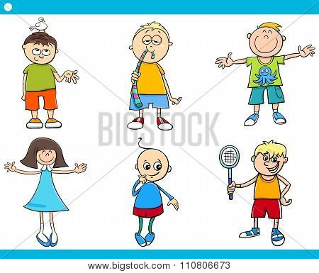 Kids Characters Cartoon Set