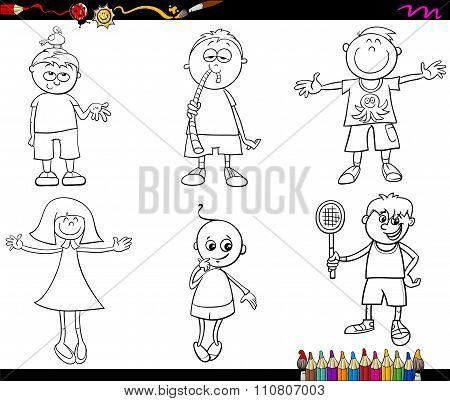 Kids Set Coloring Page