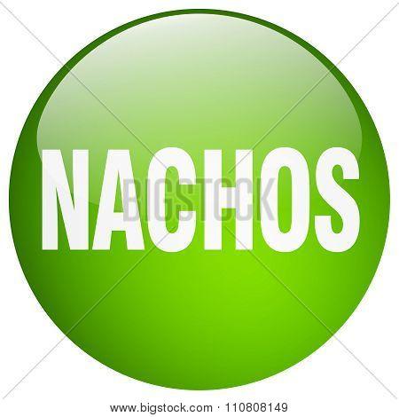 Nachos Green Round Gel Isolated Push Button