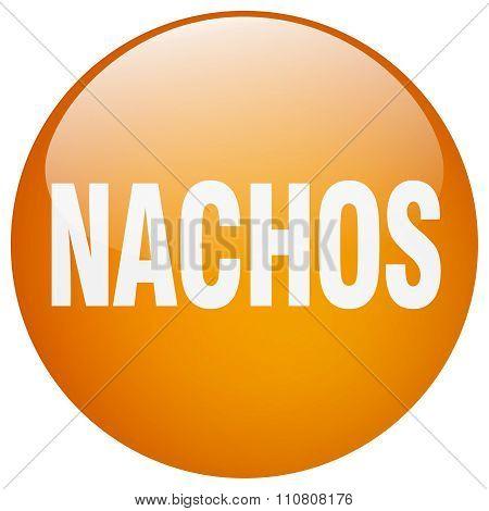 Nachos Orange Round Gel Isolated Push Button
