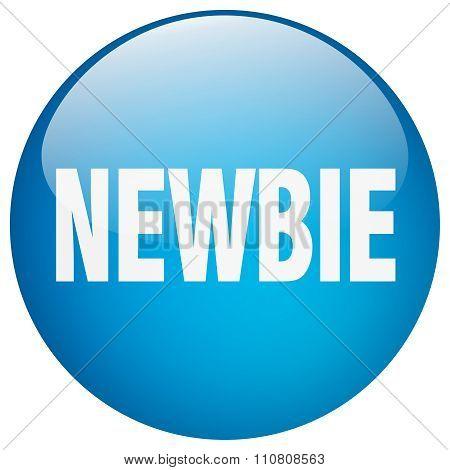 Newbie Blue Round Gel Isolated Push Button