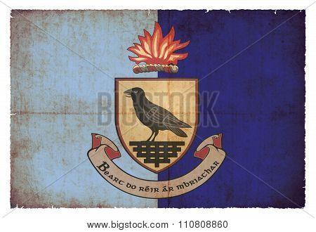 Grunge Flag Of Dublin (ireland)