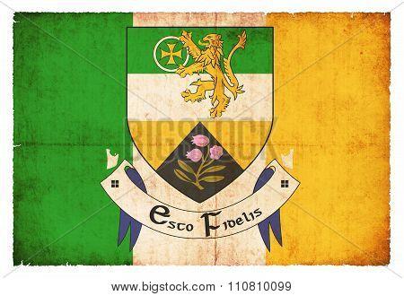 Grunge Flag Of Offaly (ireland)