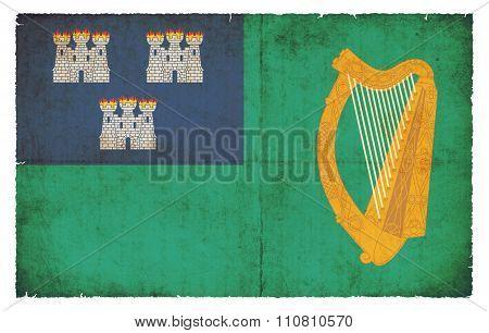 Grunge Flag Of City Of Dublin (ireland)