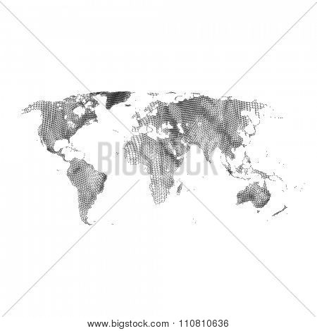 Map of the World. Global Network Mesh. Social Communications Background. Technology Style. Connection Structure. Polygonal Vector Background.