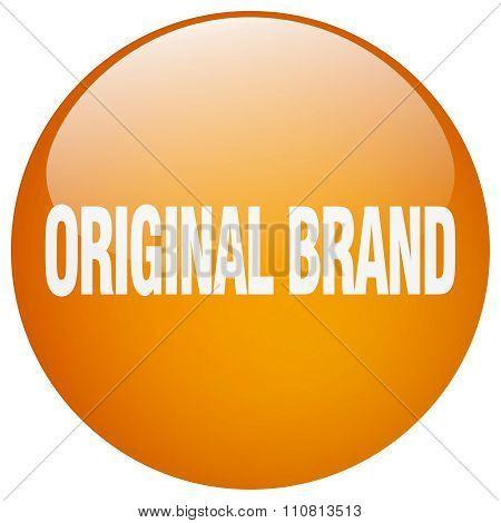 Original Brand Orange Round Gel Isolated Push Button