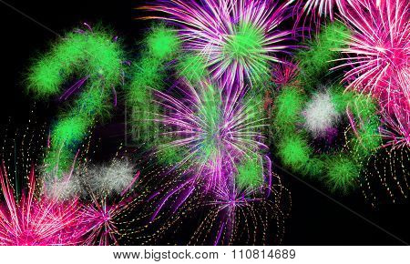 New Years Eve Background - 2016 Fireworks