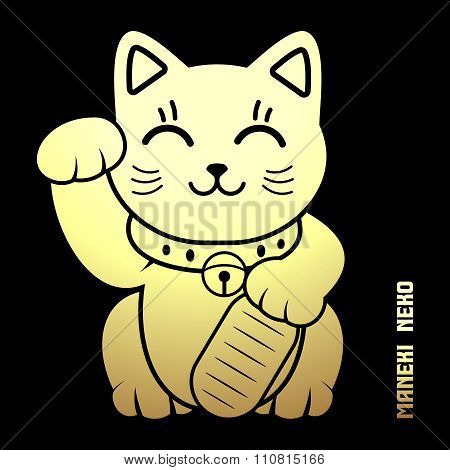 Vector Japanese Lucky Cat Illustration