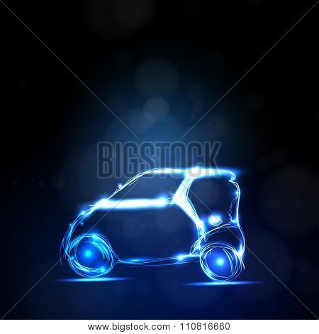 abstract  car you can easy editable