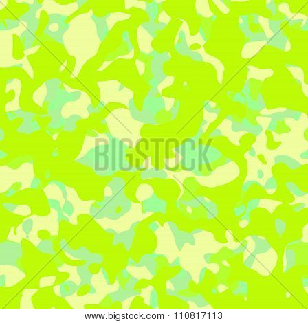 Abstract Camouflage Pattern In Mixed Green Yellow