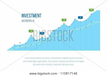 Business diagram graph chart.