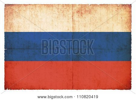 Grunge Flag Of Russia