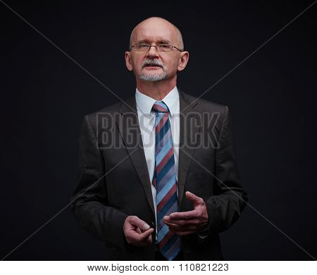 Mature businessman in formal-wear and eyeglasses
