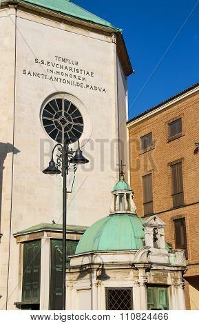 Facade Of Ancient Paolotti Church (chiesa Dei Minimi Di Paola) In Rimini, Italy