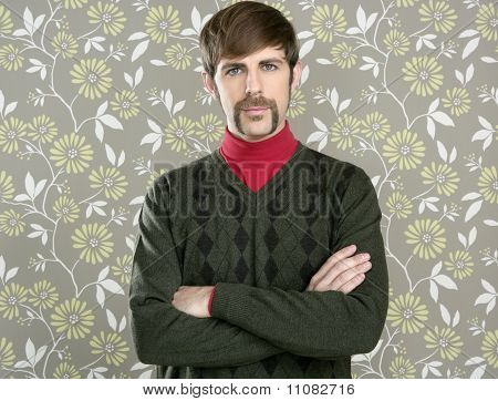Mustache Retro Salesman