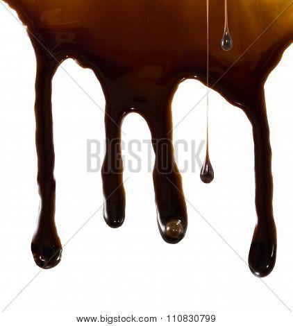 Dripping Liquid Chocolate