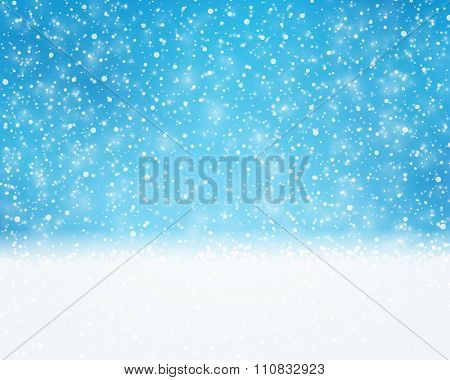 Textured blue white background for winter, holiday or Christmas themed designs. The snowfall pattern gives it a great wintry and dreamy feeling.
