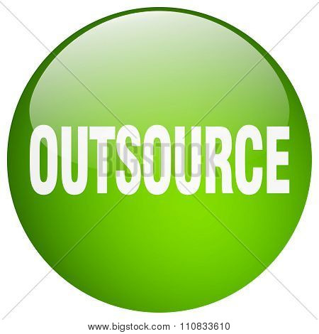 Outsource Green Round Gel Isolated Push Button