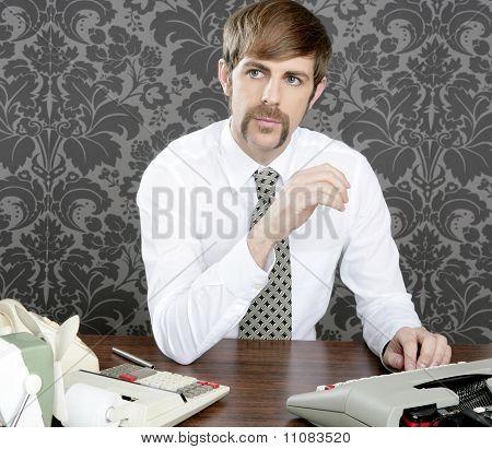 Retro Mustache Businessman