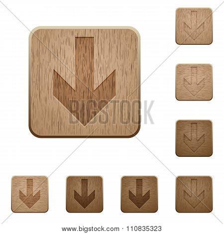 Down Arrow Wooden Buttons