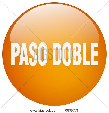Paso Doble Orange Round Gel Isolated Push Button