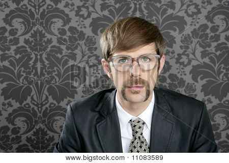 Businessman Nerd Retro Glasses  Portrait
