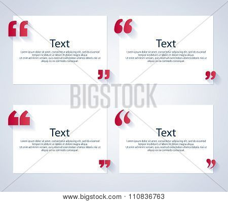 Quote boxes with marks set.