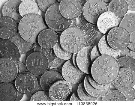 Black And White Pound Coins