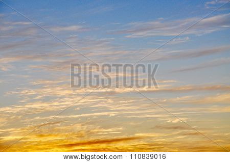 Cloudscape: Sunset Colors