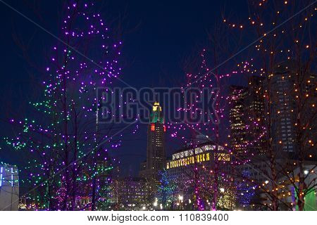 Downtown Columbus, Ohio at Christmas