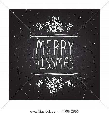 Merry kissmas - typographic element